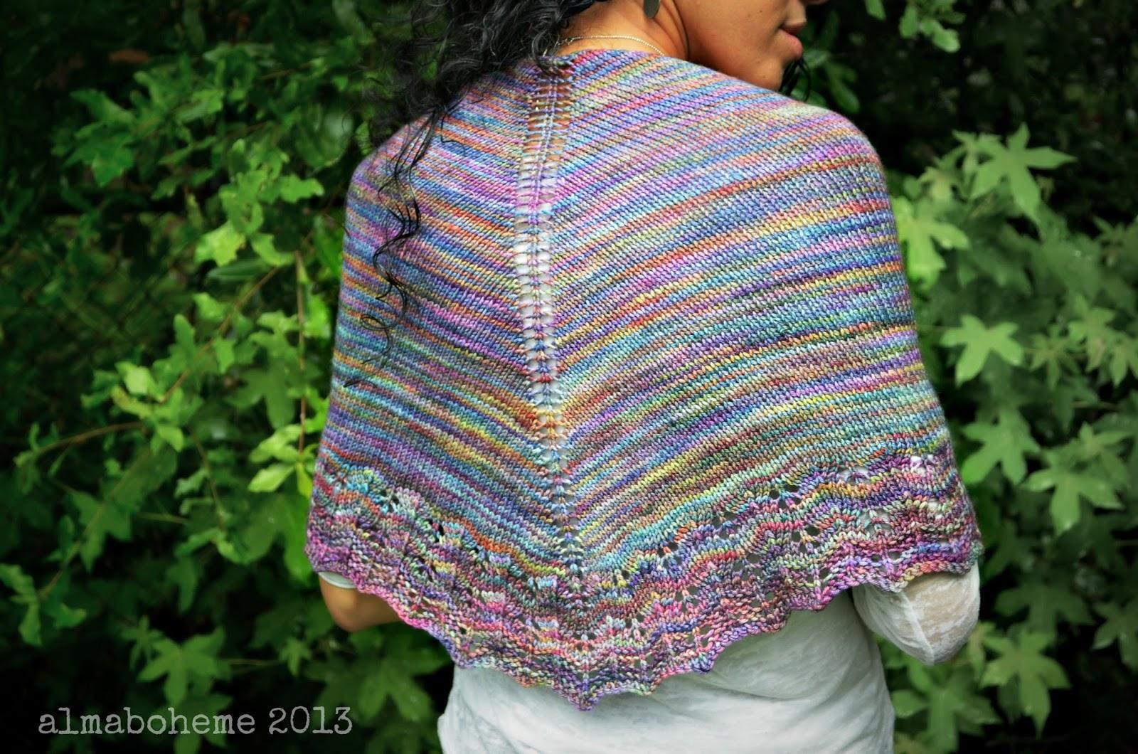 Knitting Shawl : Lacy knit shawl alma boheme