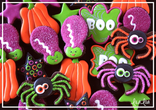Decorated Halloween Cookies Tutorial