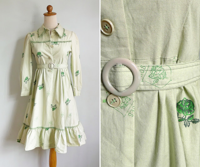 vintage dolly mint green dress