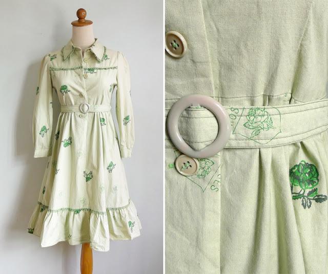 vintage dolly mint green dress
