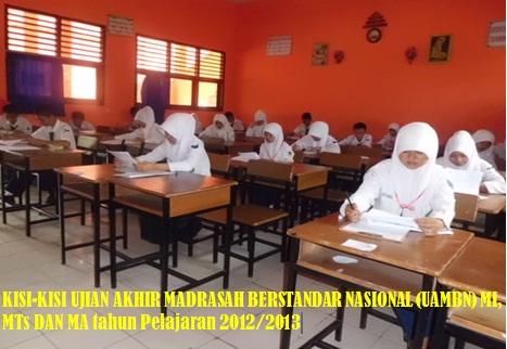 Kisi Kisi Ujian Akhir Madrasah Berstandar Nasional Uambn Mi Mts Dan Ma Tahun Pelajaran 2012 2013