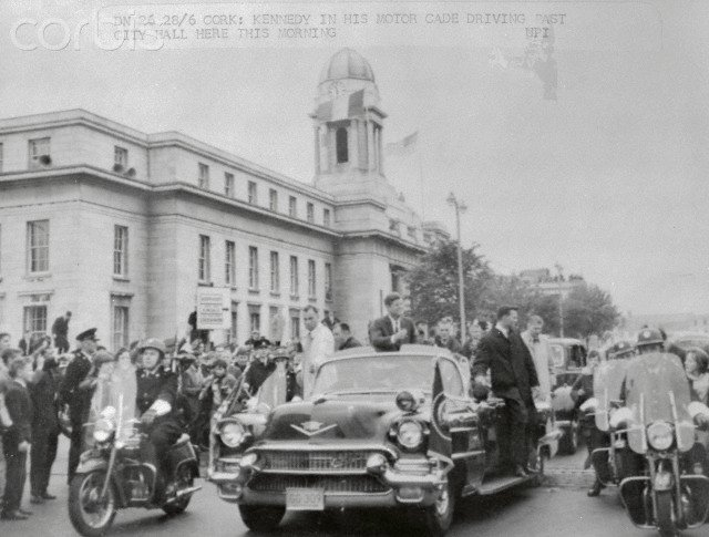 IRELAND JUNE 1963: AGENTS ON LIMO