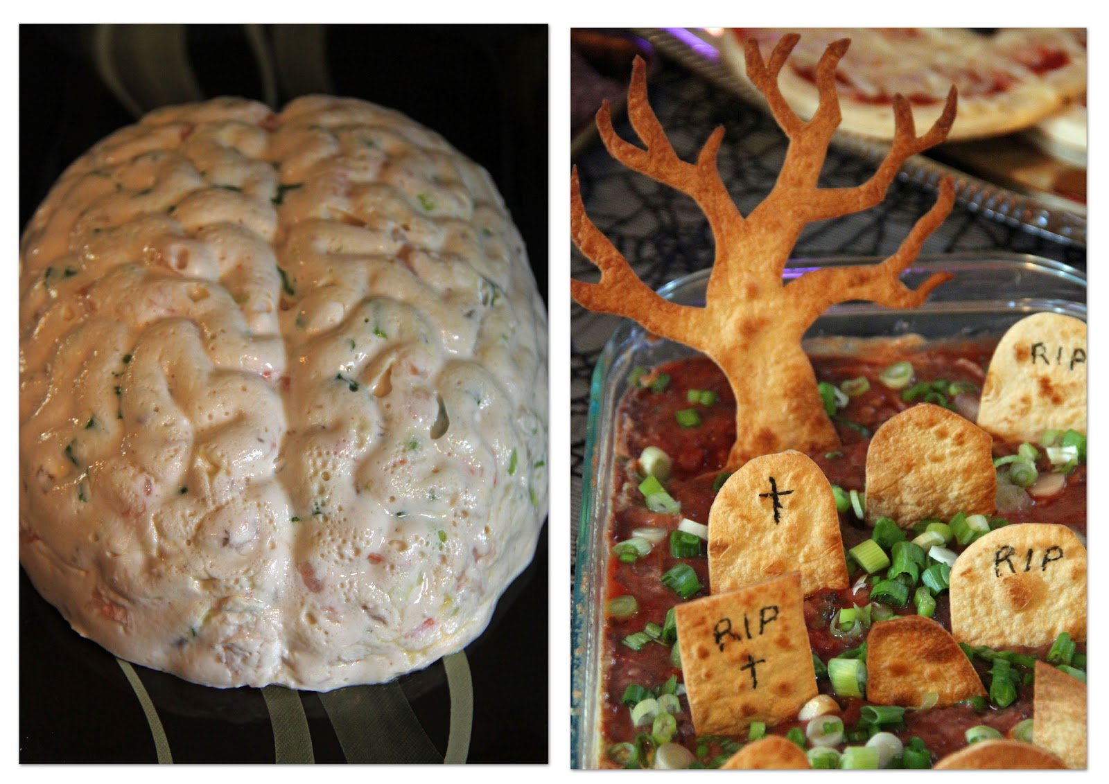 Halloween Brain Dip Recipe — Dishmaps