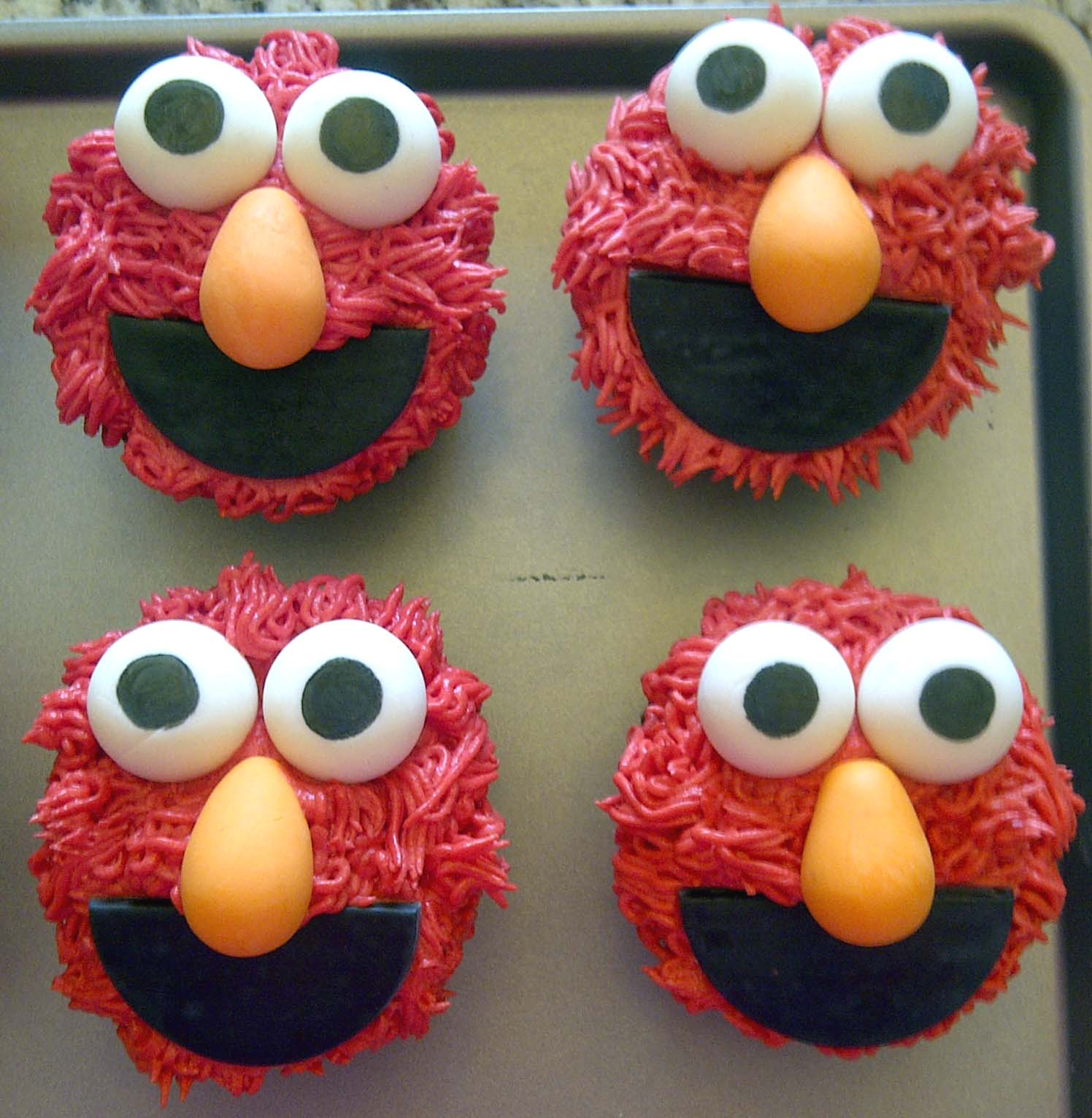 leelabean cakes  elmo birthday party