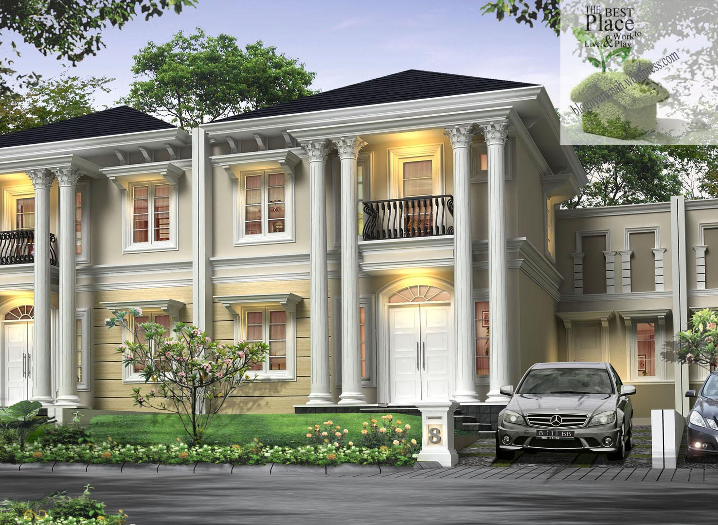 Desain Rumah Klasik Modern