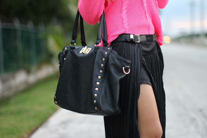 Studded bag blogger