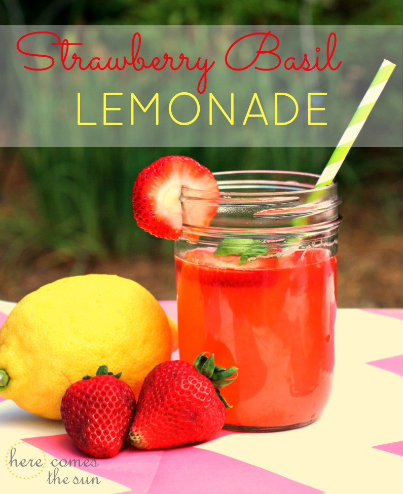 Strawberry Basil Lemonade | Here Comes The Sun