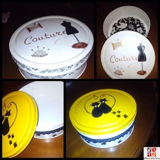 cajas de galletas tuneadas con pintura en spray