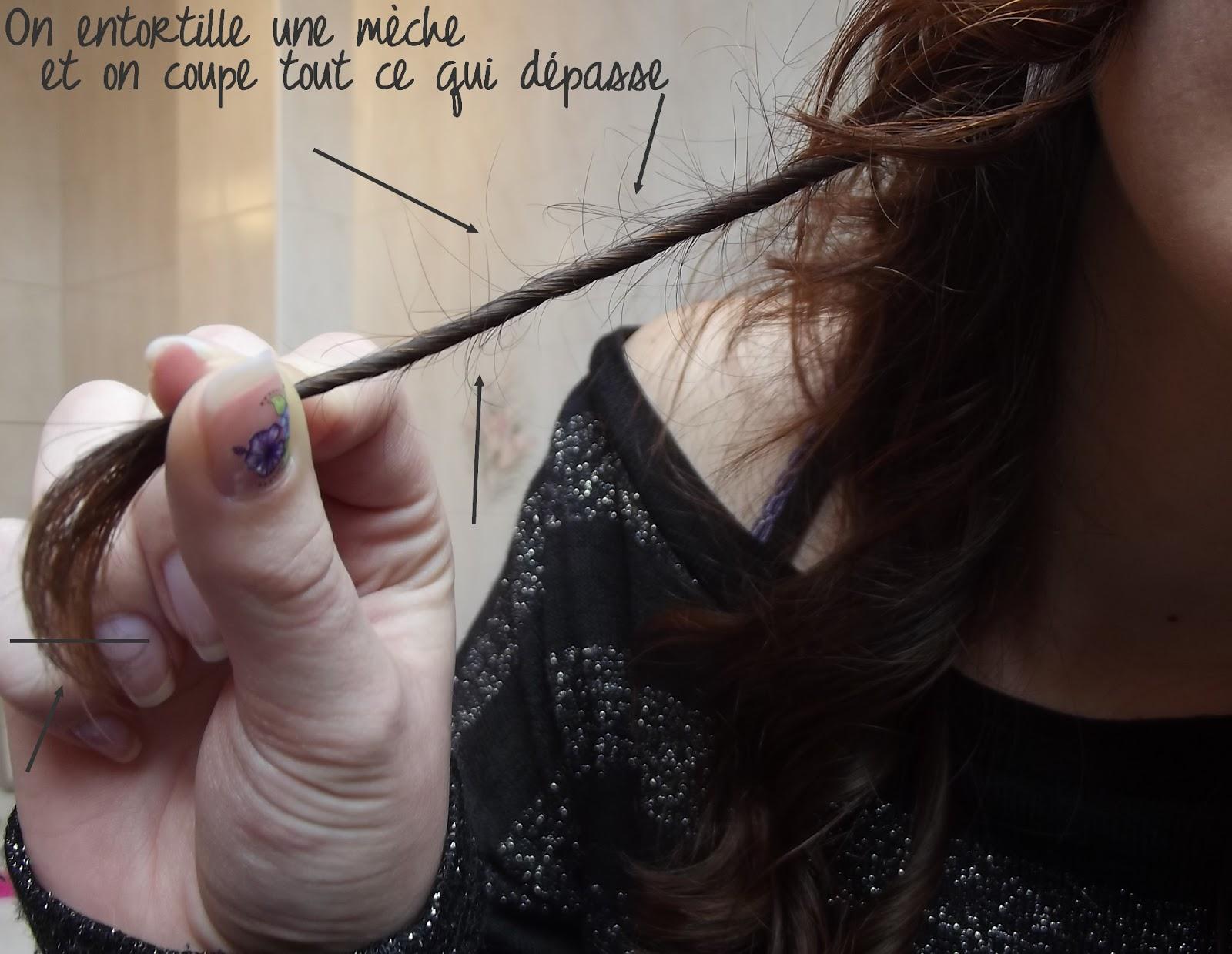 Couper ses pointes de cheveux seule