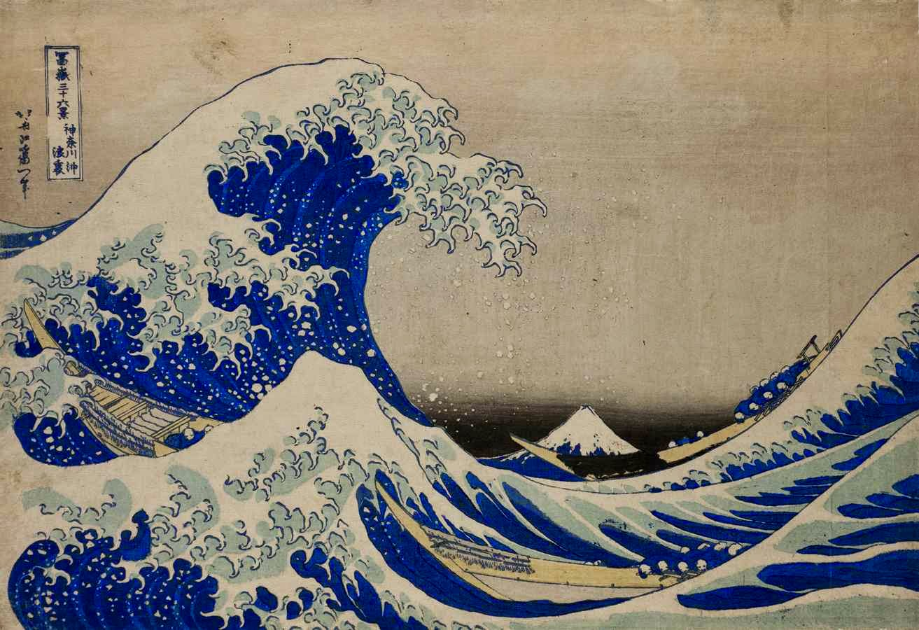 la grande vague hokusai