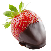 Strawberry dipped in dark chocolate