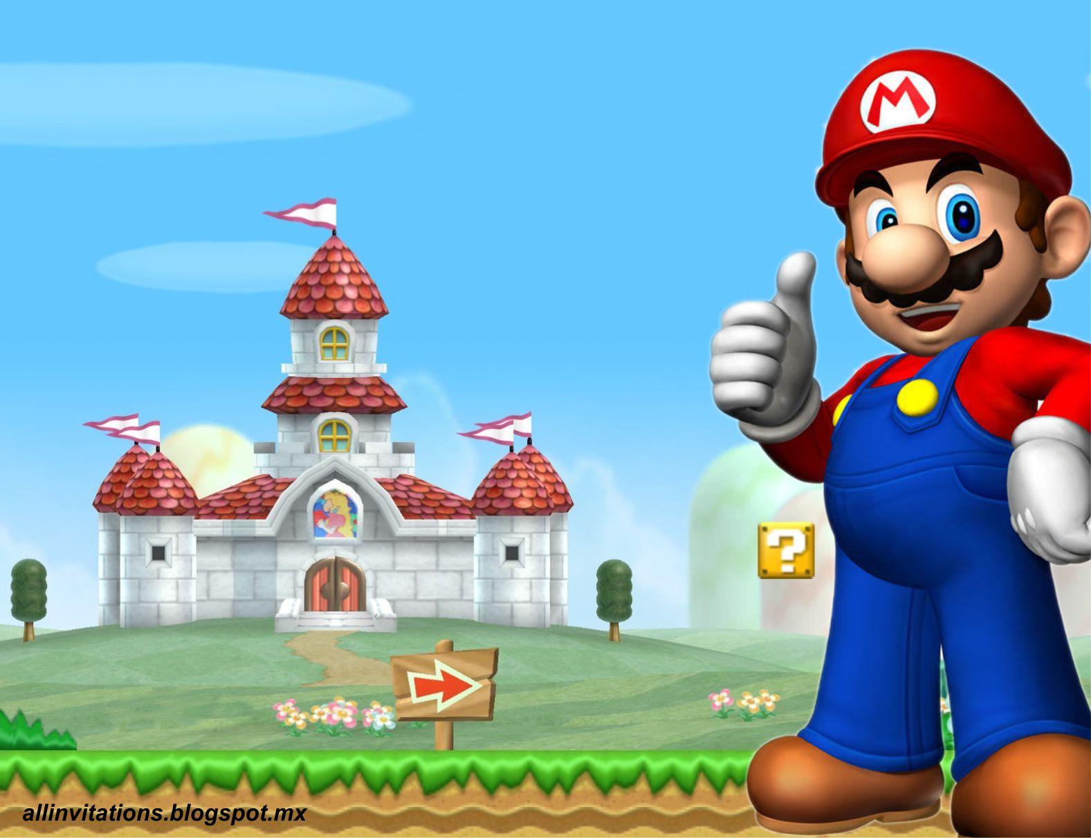 Invitación de Cumpleaños de Mario Bross   All Invitations
