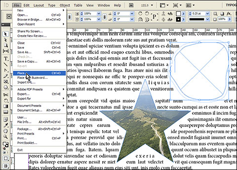 Use any shape as frame in adobe InDesign