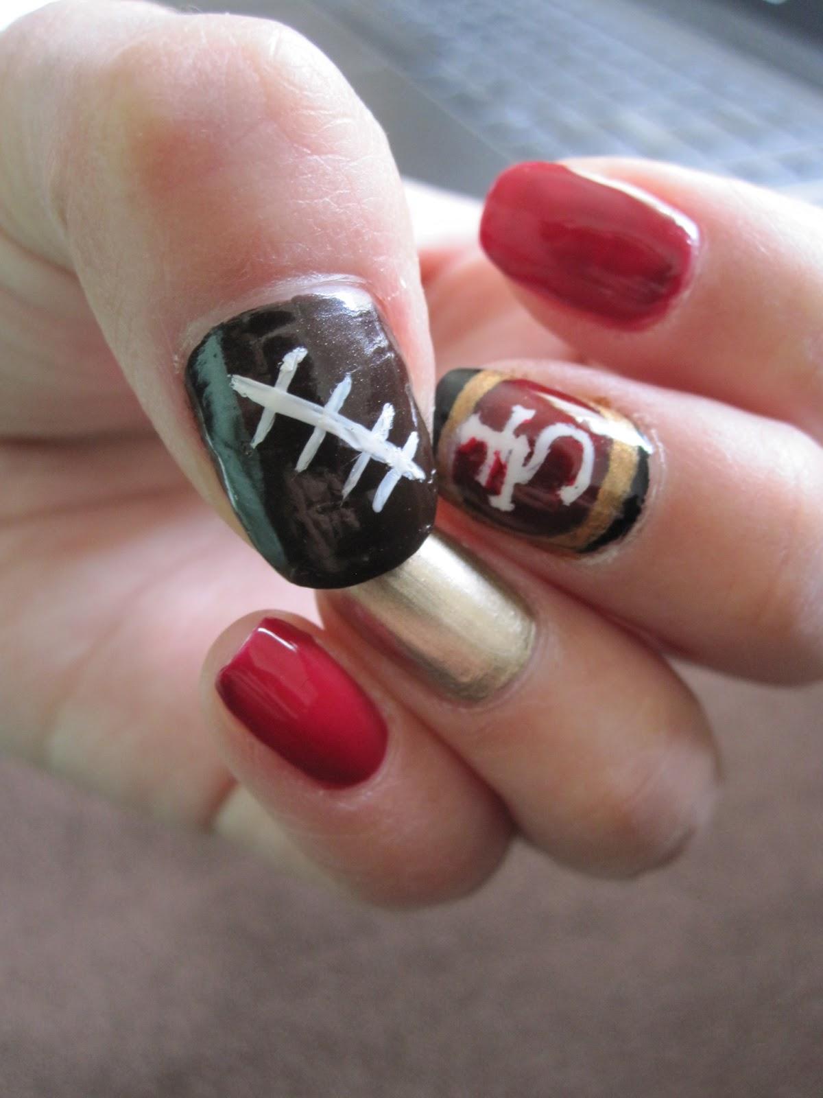 Nail Files 22: SF 49ers Style | Short and Sweet Joy