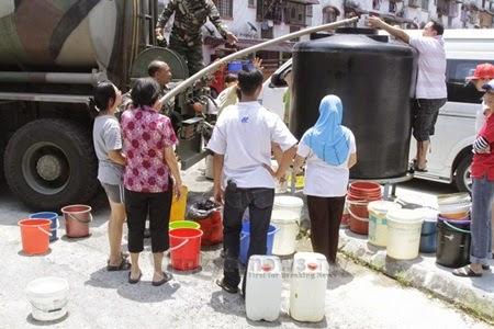 tiada air, kekurangan bekalan air, masalah tiada air