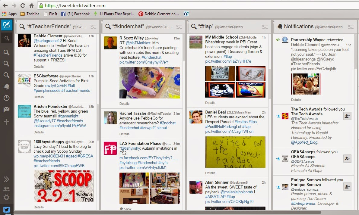 Using Tweetdeck to Navigate Twitter Chats