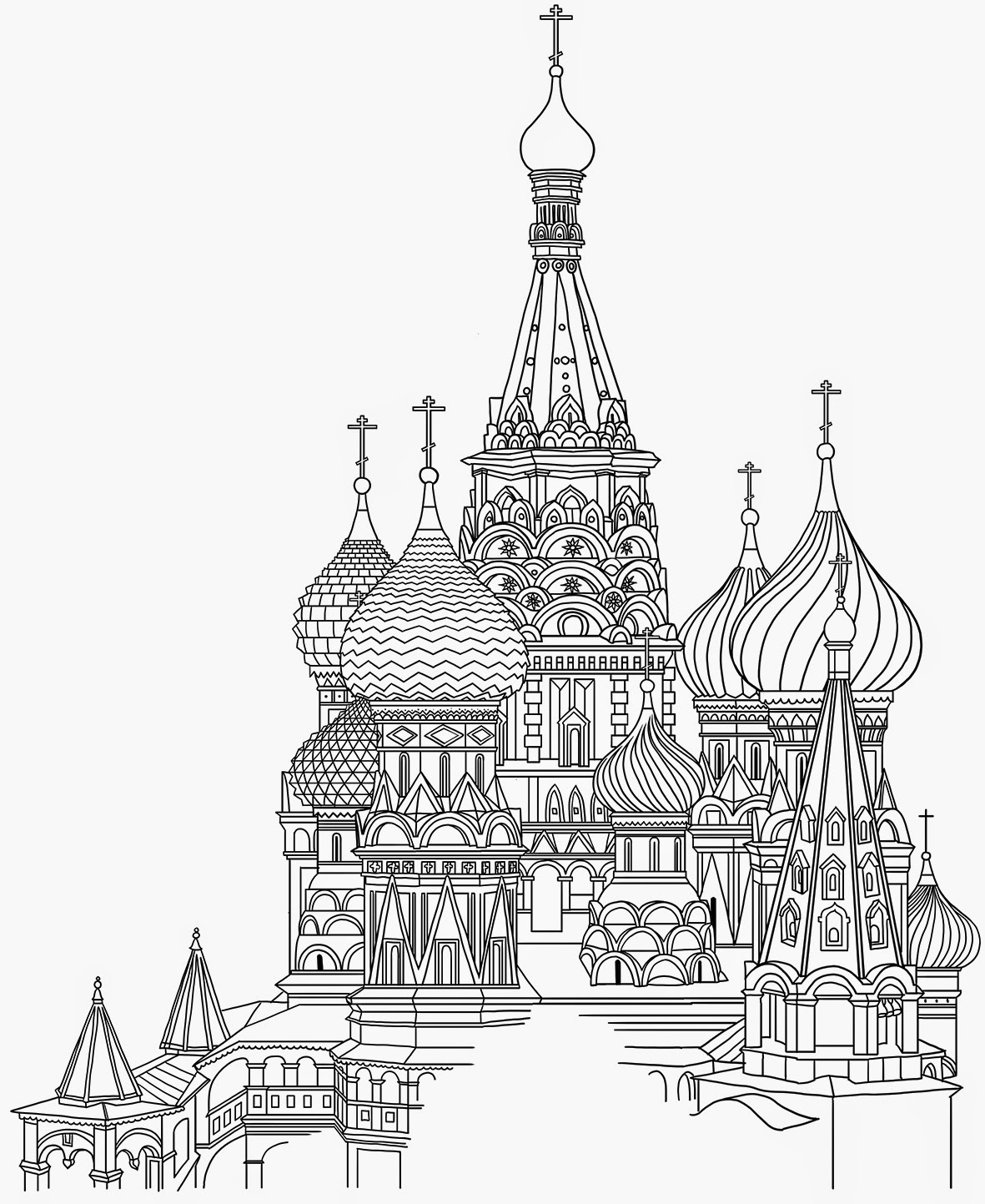 saint basils cathedral coloring pages - photo#25