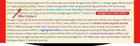 Effect hover teks link