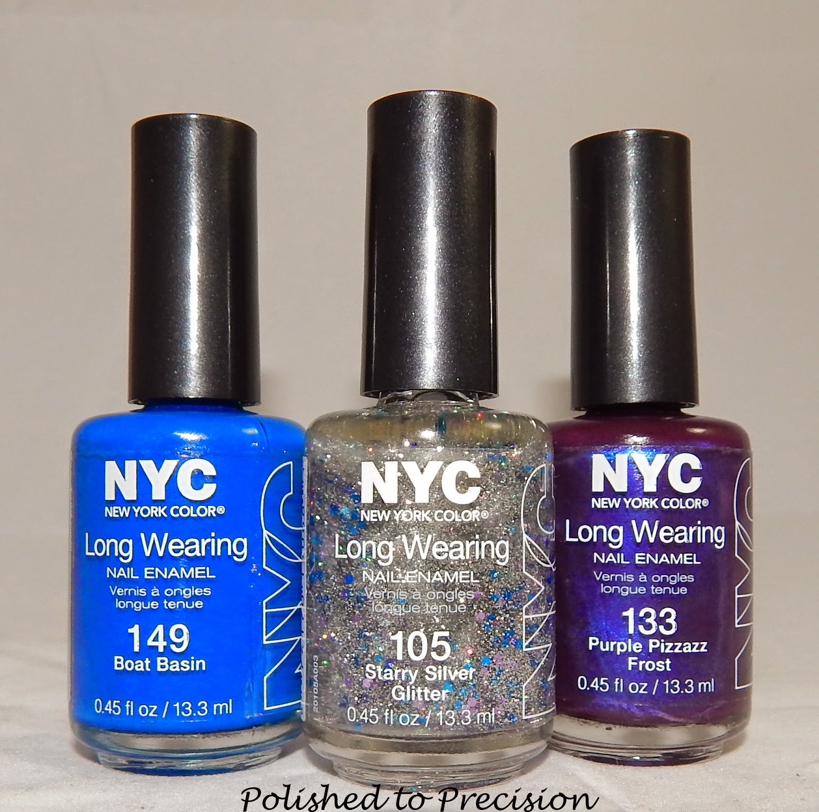 Polished To Precision Nyc Long Wearing Nail Enamel Purple Pizzazz