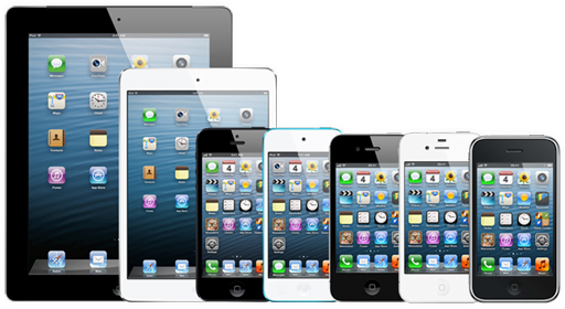 picture of iOS 6.1.3 compatible devices