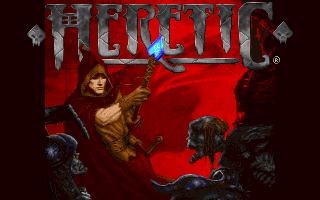 Heretic shareware title screen