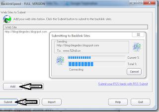 Software Auto Backlinks | Blogger Blegedes