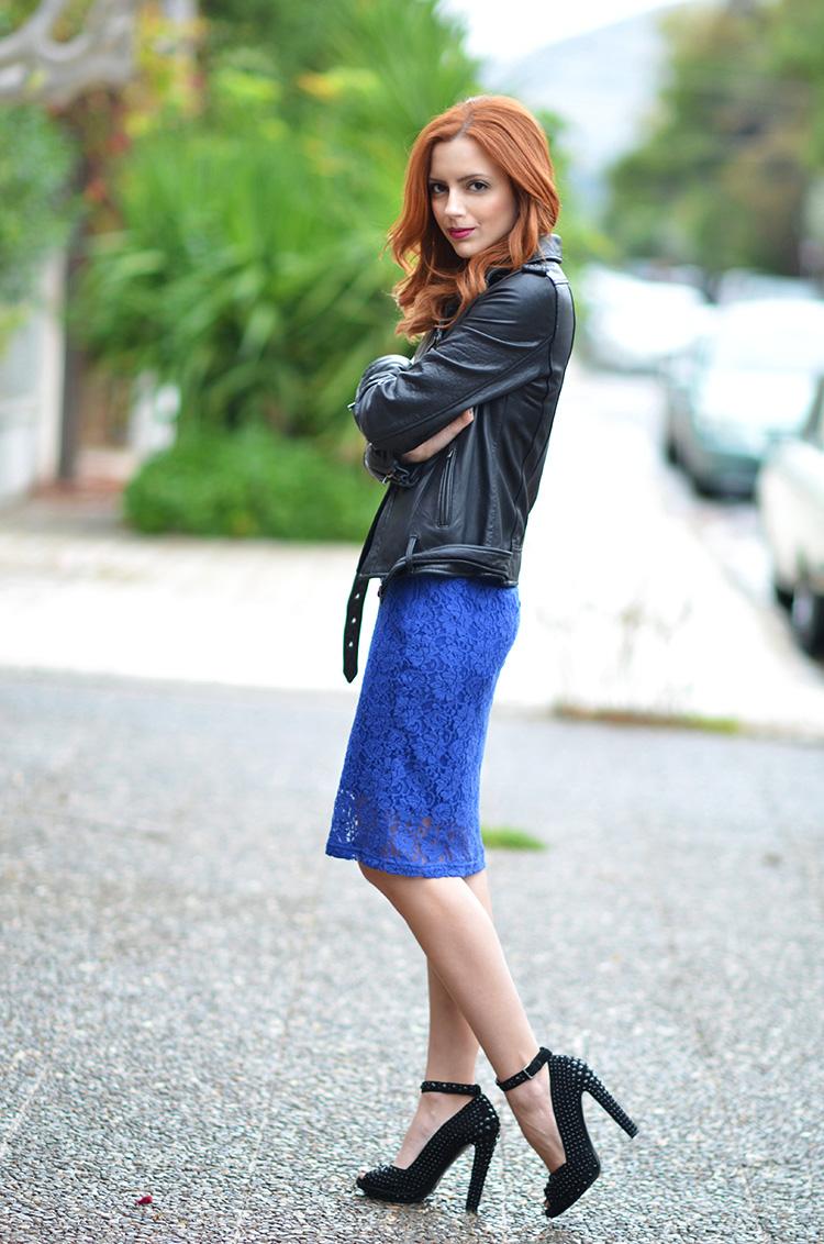Monki lace skirt