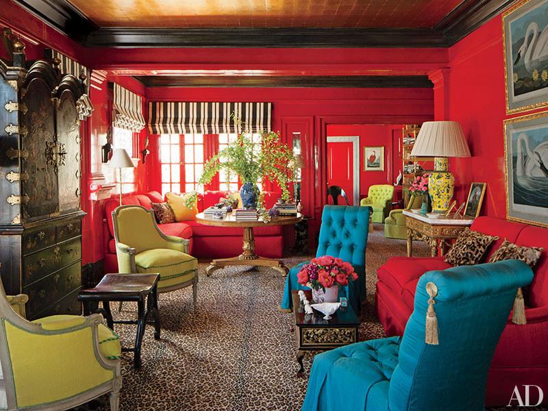 die wohngalerie leopard trifft knallrot t rkis auf gold thomas britt richtet in san. Black Bedroom Furniture Sets. Home Design Ideas