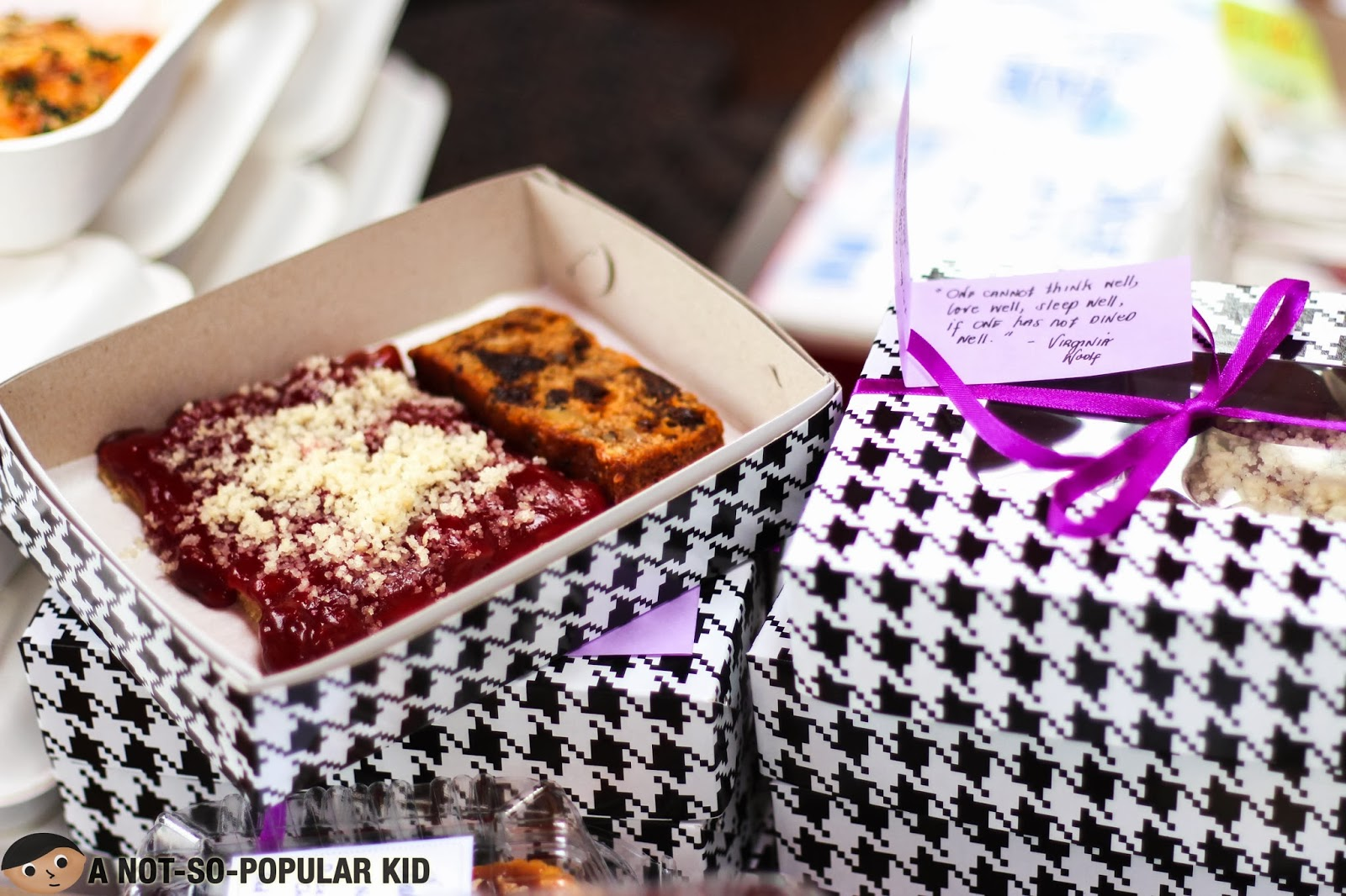 Chynna Ortaleza's Cherry Pizza and Banana Prune Bread in an Adorable Package