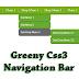 Greeny Css3 Navigation Bar For Blogger