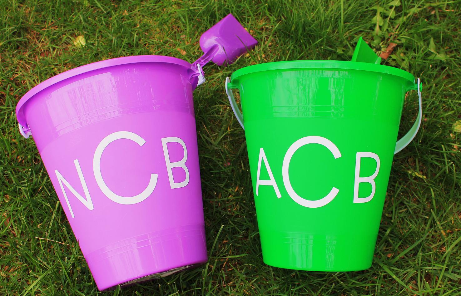 maryland pink and green  preppy easter pails