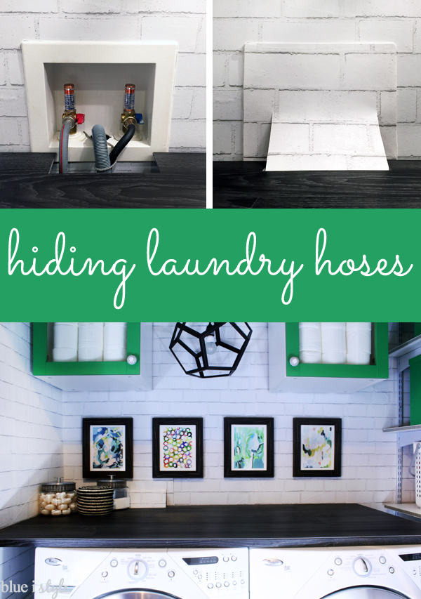 How to Hide laundry room hoses