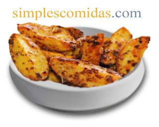 patatas rusticas a la mostaza