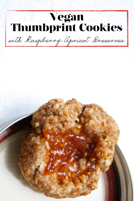 Vegan Recipe: Thumbnail Cookies with Apricot-Raspberry Preserves, The Out of Office Diet