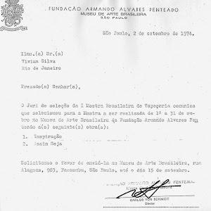 Fundação Armando Álvares Penteado, I Mostra Brasileira de Tapeçaria, no Museu de Arte Brasileira.