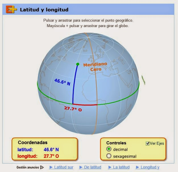 Mas allá del aula... ;): Ciencias Sociales 5º: LATITUD Y LONGITUD ...