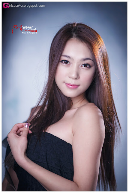 5 Ju Da Ha - Black Mini Dress-very cute asian girl-girlcute4u.blogspot.com