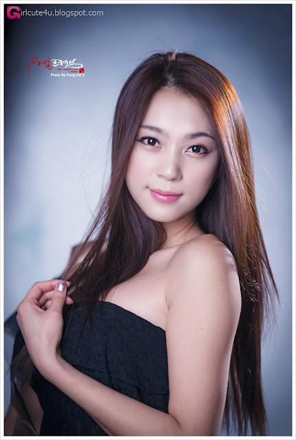 5 Ju Da Ha - Black Mini Dress-very cute asian girl-girlcute4u.blogspot.com