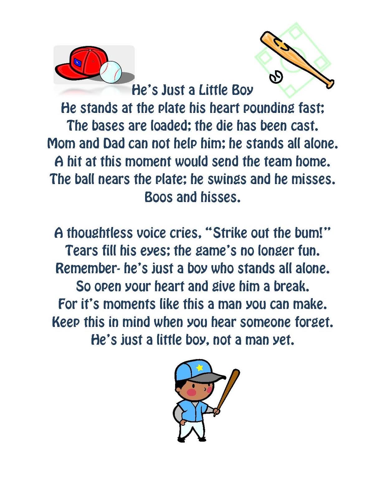 little boys in little league