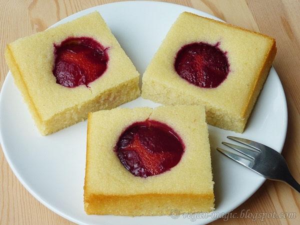 Plum Semolina Cake