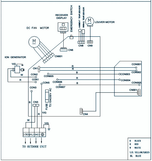DC INVERTER AC – HAIER HSU 18HEA – WIRING DIAGRAM – CIRCUIT DIAGRAM
