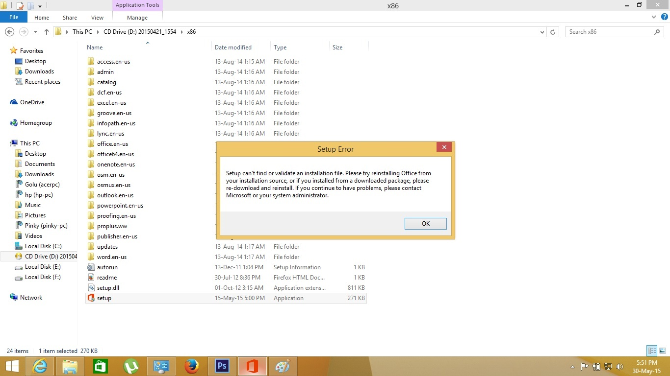Technology Basic Learning: Cannot install Office 2013 - Seup ...
