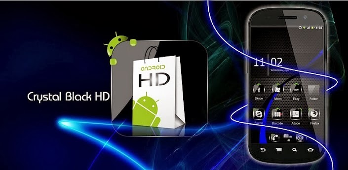 Theme Crystal Black HD Pack v6.4 Apk