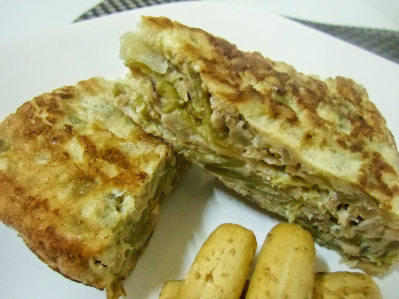 Mi sart n tortilla de jud as verdes y at n - Como hacer judias verdes ...