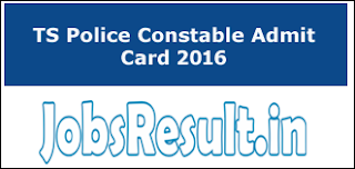 TS Police Constable Admit Card 2016