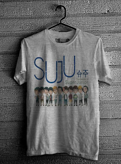 kaos super junior online murah abu