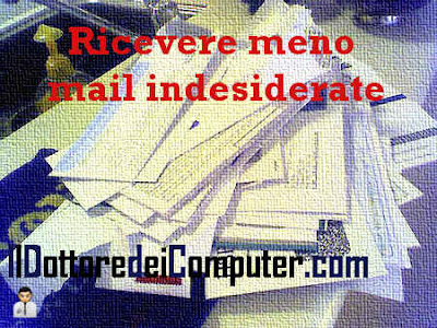 ricevere meno mail indesiderate