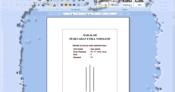 wong ndansaris membuat tiga garis vertikal pada cover