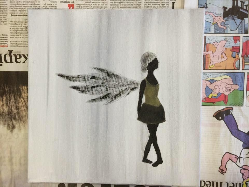 pige med vinger tegninger