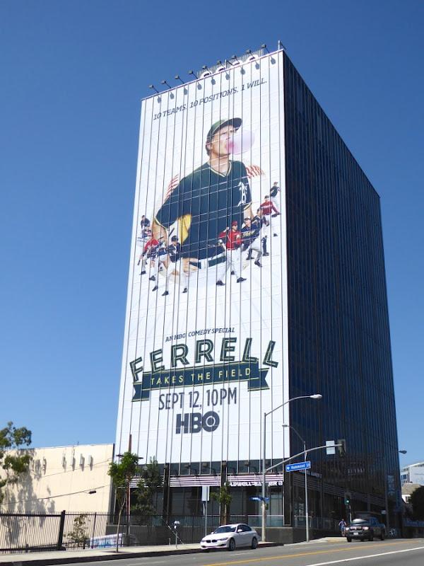Giant Ferrell Takes the Field billboard Sunset Strip